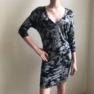 Ella Moss Print Knit Midi Dress sz Small